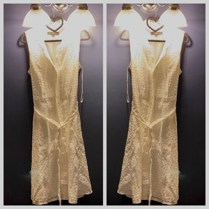 ModCloth White belted Shirt dress